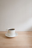 Hot coffee. On table in Cafe Royalty Free Stock Image