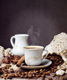 Hot coffee time royalty free stock photos