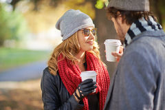 Hot coffee together Royalty Free Stock Images