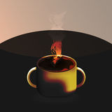 Hot coffee vector designs Stock Images