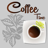 Hot Coffee vector icon for cafes. And bistros Royalty Free Stock Photography