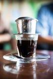 Hot coffee vietnamese style Stock Photo