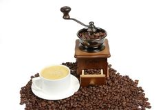 Hot coffer,Vintage manual coffee Royalty Free Stock Images