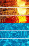 Hot and Cold Banner Collection Royalty Free Stock Photos