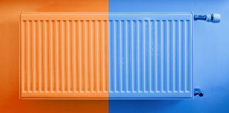 Hot and cold radiator. Warm and cool colors Royalty Free Stock Image