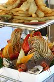 Hot and Cold Seafood Platter Stock Image