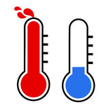 Hot and cold symbols Royalty Free Stock Photo