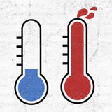 Hot and cold symbols. Design of hot and cold symbols Stock Photography