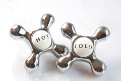 Hot & Cold Taps Royalty Free Stock Image