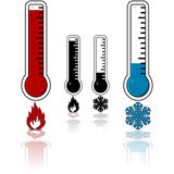 Hot and cold temperature royalty free stock photography