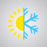 Hot and Cold Temperature Icon Stock Photos