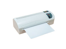 Hot&Cold Thermal Laminating Machine Royalty Free Stock Photography