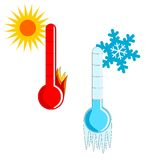 Hot And Cold Weather Royalty Free Stock Photography
