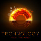 Hot colors abstract orange glowing torus background Royalty Free Stock Image