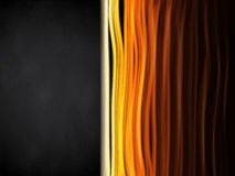 Hot Colors Stripes Background with Black Frame Royalty Free Stock Photography