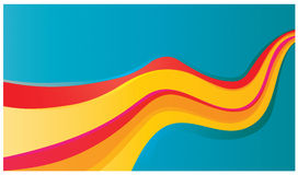 Hot coloured illustration Stock Photography