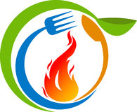 Hot cook logo. Illustration art of a hot cook logo with isolated background stock illustration