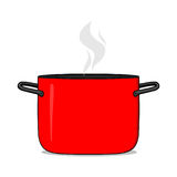 Hot cooking pot illustration. Cookware Stock Photo