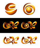 Hot Core Vector Logos Stock Images