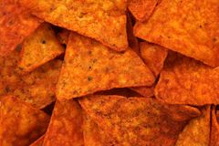 Hot corn chips background Royalty Free Stock Photography