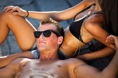 Hot couple Stock Images