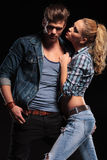 Hot couple posing for the camera Royalty Free Stock Photography