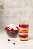 Hot cowberry drink Stock Photography