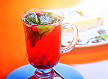Hot cranberry tea Stock Images