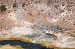 Hot Creek Geothermal Site Stock Images