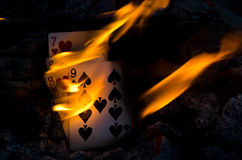 Hot Cribbage Hand Royalty Free Stock Photography