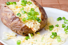 Hot and crispy baked potato Royalty Free Stock Photography