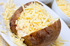 Hot and crispy baked potato Royalty Free Stock Photo