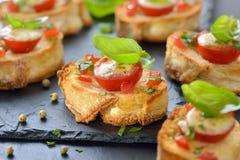 Hot crispy bruschetta Royalty Free Stock Photography