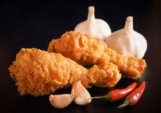 Hot and crispy fried chicken Royalty Free Stock Photos