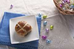 Hot Cross Bun Stock Photo