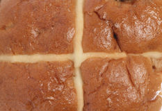Hot cross bun background Stock Photos
