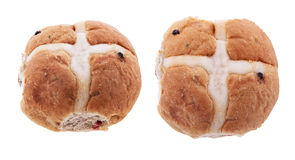 Hot Cross Bun Whole - Isolated Stock Images