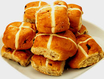 Hot cross buns Stock Images