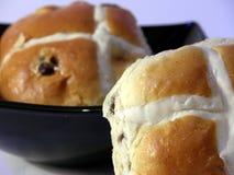 Hot Cross Buns. Buns in a Bowl Stock Image