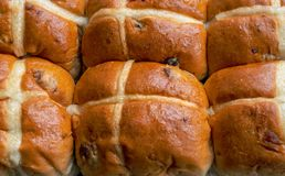 Hot Cross Buns Close Up stock photography