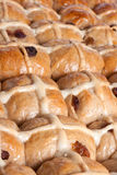 Hot cross buns closeup Stock Image