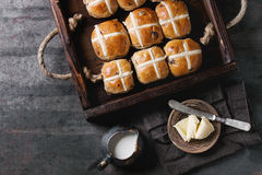 Hot cross buns Stock Photography