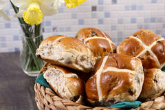 Hot crossed buns Royalty Free Stock Images