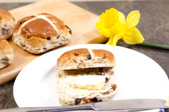 Hot crossed buns Stock Photography