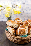 Hot crossed buns Royalty Free Stock Photos