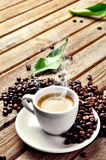 Hot Cup of coffee stock images