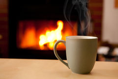 A hot cup of coffee Royalty Free Stock Photos