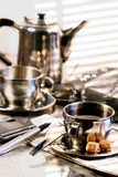 Hot cup of coffee Royalty Free Stock Photos