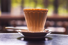 A hot cup of coffee.  Stock Images