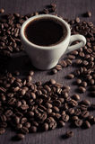 Hot cup of coffee Stock Photography